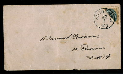 1903 Danish West Indies Sc 18a 4c Diagonal Used On Cover St Thomas As Per Scan