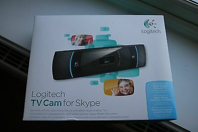 Logitech TV Cam for Skype - Boxed with extension lead and all manuals