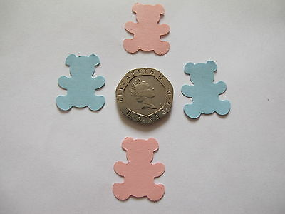 50 Pink and Blue Teddy Bears for Cardmaking,  baby cards, baby shower