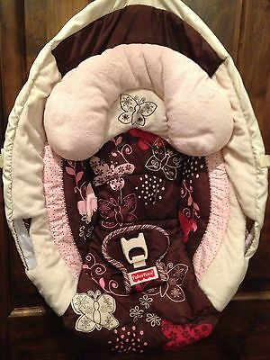 Fisher Price Mocha Butterfly Papasan Cradle Swing Seat Cover Replacement Only