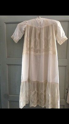 Childs Victorian Christening Silk Gown