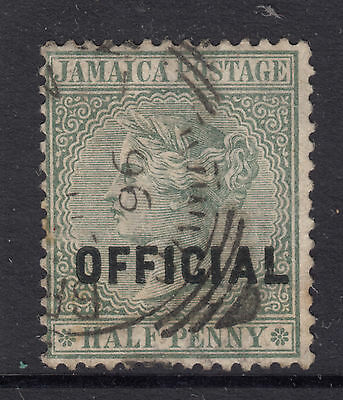 JAMAICA SG 03 1/2d Queen Victoria OFFICIAL Ovpt FINE USED