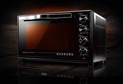45L Home Commercial Black Multi-function Baking Tool Benchtop Electric Oven