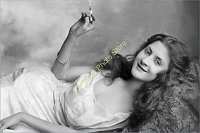 p170 GLAMOUR female 1900s risque pretty girl smoking beauty photo