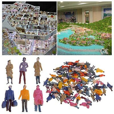 100 x Building Layout Model People Train 1:87 HO Scale Painted Figure Passenger