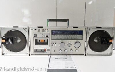 Boombox Ghettoblaster Radio Cassette Corder Stereo 4 Bandes Sony Cfs-88L Vintage
