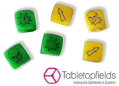 Fantasy Football - Block Dice - Set of 3 Dice - for example Blood Bowl