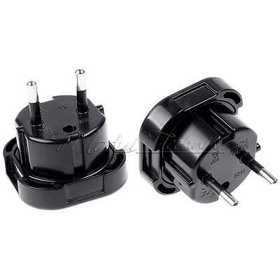 Travel UK to EU Euro AC Power Plug Charger Adapter Socket Converter Universal