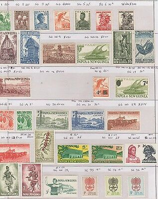 A sheet of Papua new Guinea SG 1 to 35 all very fine mint nice lot missing sg 20