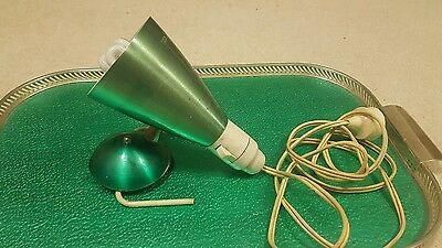 Green anodised vintage bed lamp 1960s