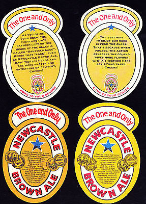 Collectable beer coasters -  Set of 4 Newcastle Brown Ale  coasters (ENGLAND)