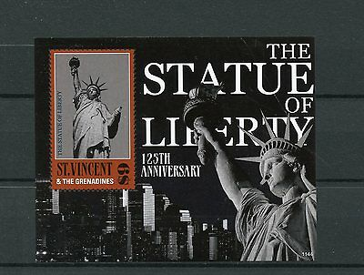 St Vincent & Grenadines 2011 MNH Statue of Liberty 1v S/S Skyscrapers Stamps