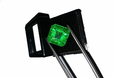 Natural 8.40 Ct GGL Certified Octagon Shape Colombia Emerald Gemstone eBAY