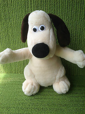"""Wallace & Gromit - 10"""" Gromit Plush Soft Toy - Born To Play/aardman 1989"""