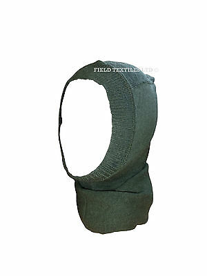 BALACLAVA British Army Genuine Issue Headover Olive Green Wool Military - Used