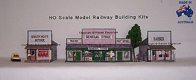 HO Scale Country General Store Barber & Butcher Shops Railway Building Kit GBB1