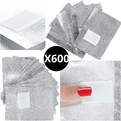 600X Nail Foil Gel Wraps Polish Remover Art Soak Off Acrylic Removal -No Acetone
