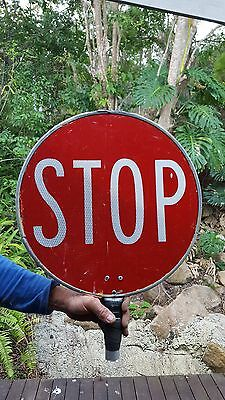 Old sign stop and slow