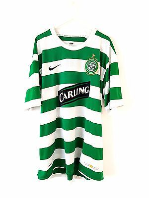 Celtic Home Shirt 2007. XL. Nike. Green Adults Short Sleeves Football Top Only.