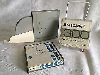 Three Vintage Reel To Reel Recording Tapes 4 Inch BASF, EMI, PHILLIPS