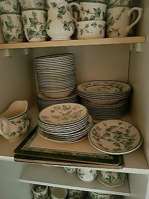Large collection of BHS vine dinner service