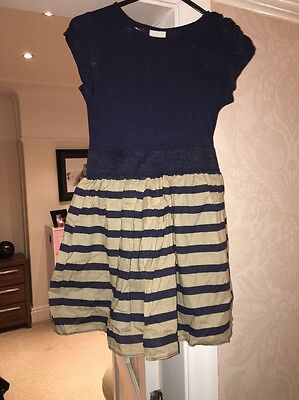 Girls Navy Next Dress Age 7 Years Excellent Condition