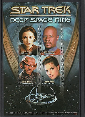 Tanzania 2010 MNH Star Trek Deep Space Nine 4v M/S Benjamin Sisko Quark Stamps
