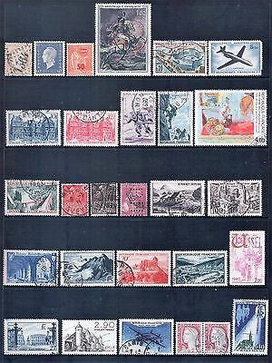 France French Republic Mixed Lot of 72 Stamps most Fine to Good Used LH 3 Scans
