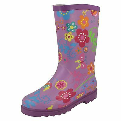 Wholesale Girls Wellington Boots 16 Pairs Sizes 10-3  X1062