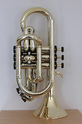 Tromba Plastic Bb Cornet Gold and Black