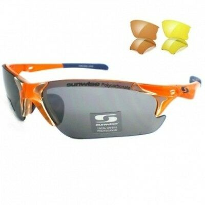 Sunwise Twister Interchangeable 3 Lens Sports Sunglasses in ORANGE ****