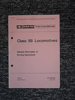 British Rail Class 58 Driving Instructions Manual