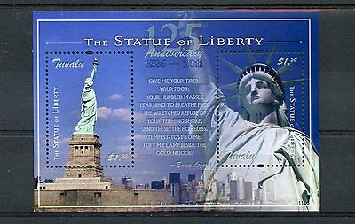 Tuvalu 2011 MNH Statue of Liberty 125th Ann S/S New York Architecture Stamps