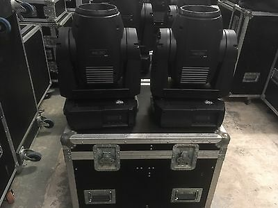 6 x Martin MAC250 Wash inc Flightcases Stage Moving Light Theatre