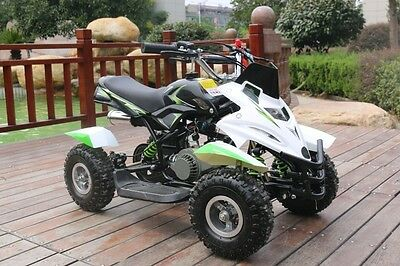 Hawkmoto Green 50cc Childrens Kids Dirt Ninja Mini Off Road Petrol Quad Bike
