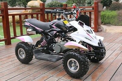 Hawkmoto Pink 50cc Childrens Girls Dirt Ninja Mini Off Road Petrol Quad Bike
