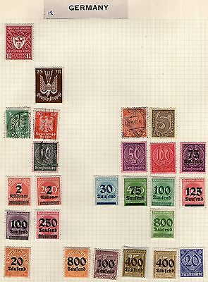 Germany & Colonies Stamp Collection on Old Album Page #18 -  MH & Used