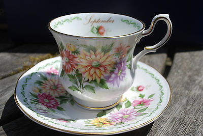 Queen's China september special flowers cup and saucer