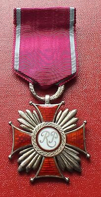 Poland Polish Cross of Merit Order II class Silver Spink London UK made