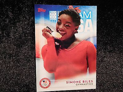 2016 Topps Usa Olympic Hopefuls Simone Biles Card 38 Gold In Rio