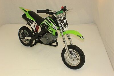Hawkmoto Green 49cc Petrol Mini Moto Dirt Devil Pocket Scrambler Motorbike Bike