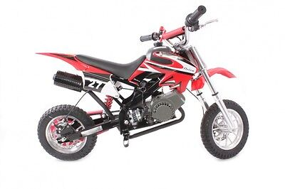 Hawkmoto Red 49cc Petrol Mini Moto Dirt Devil Pocket Scrambler Motorbike Bike