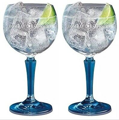 Two Bombay Sapphire Glasses. New And Gift Boxed. Bar Gin Glass