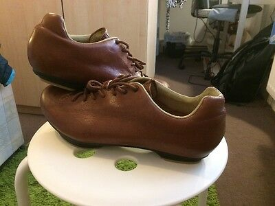 Giro Republic LX brown Leather Cycling Shoes Spd 44