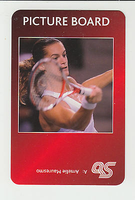 Tennis : Amelie Mauresmo : UK sports game card - red back