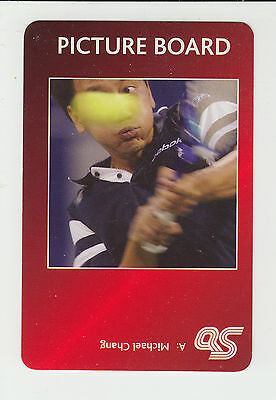 Tennis : Michael Chang : UK sports game card - red back