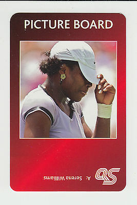 Tennis : Serena Williams : UK sports game card - red back