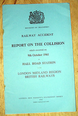 Railway Accident Report, Hall Road Station 1961