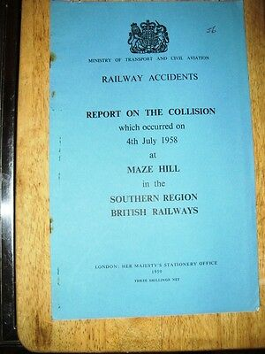 Railway Accident Report, Maze Hill 1958