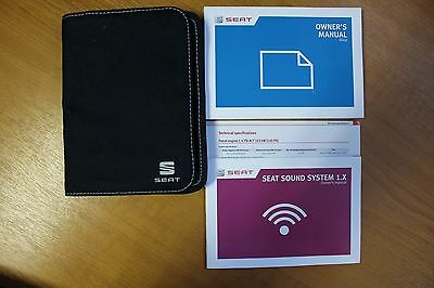 Seat Ibiza Mk4 Owners Handbook Wallet For 2012-2016 Cars Ref5258